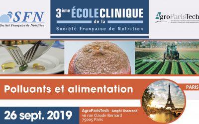 Ecole clinique : «Polluants et Alimentation»
